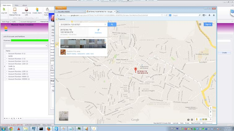 Jump to Google Maps from SECURITHOR